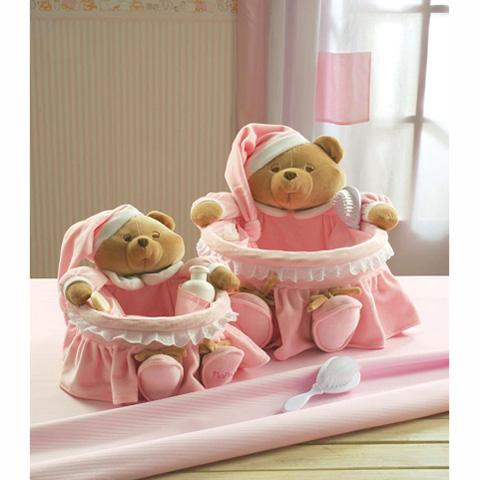 Set 2 ceste portaoggetti puccio nanan rosa 12014r ebay - Portaoggetti bimbo ...