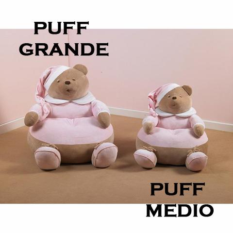 Abbigliamento e idee regalo - Set 2 Puff Puccio Rosa [12036R] by Nanan