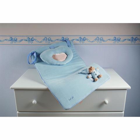 Accessori per l'igiene del bambino - Fasciatoio con cuscino - Puccio Azzurro [12449A] by Nanan
