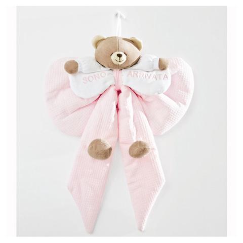 Annunci nascita - Fiocco nascita Puccio rosa [1286R] by Nanan