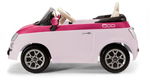 kinderauto elektroauto batterieauto fiat 500 6v rosa fuxia. Black Bedroom Furniture Sets. Home Design Ideas