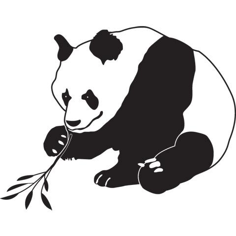 Complementi e decori - Adesivo cameretta Il panda cm. 30 x 39 [7.13 A] by Acte Deco