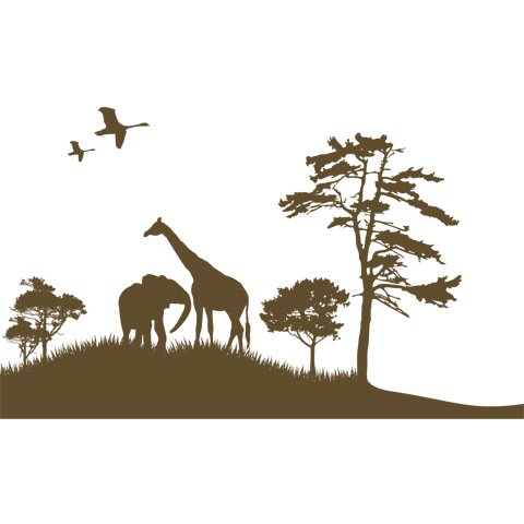Complementi e decori - Adesivo cameretta La grande savana cm. 200 x 119 [7.21 D] by Acte Deco