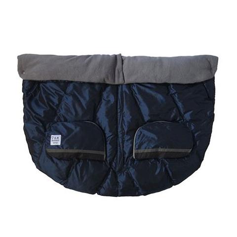 Accessori per il passeggino - Sacco invernale Duo Blanket per passeggino gemellare Metallic Prussian Blue by 7 AM Enfant
