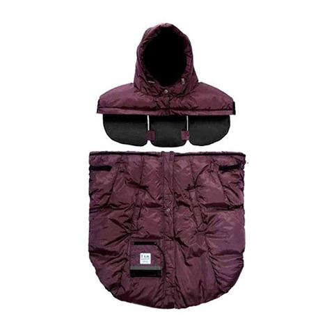 Accessori per il passeggino - Sacco invernale Pookie Poncho Metallic Plum by 7 AM Enfant