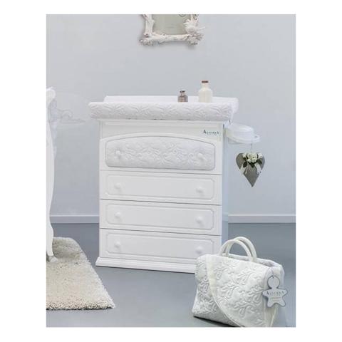 Cassettiere fasciatoio - Rinascimento Bianco by Azzurra Design
