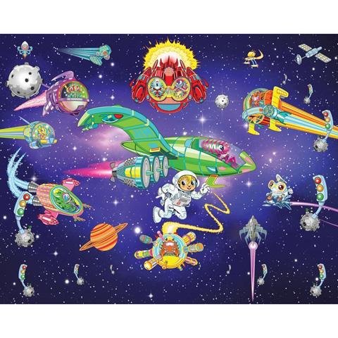Complementi e decori - Arrivano gli alieni - poster murale 12 pannelli ALIEN ADVENTURE [40502] by Walltastic