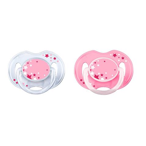 Biberon e succhiotti - 2 Succhietti notturni - no BPA - silicone 0-6 mesi [SCF176/28] by Avent