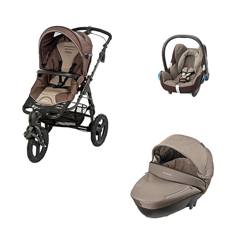 Modulari (DUO e TRIO) - [TRIO] High Trek Full + Windoo + Cabrio Fix Earth Brown by Bébé Confort