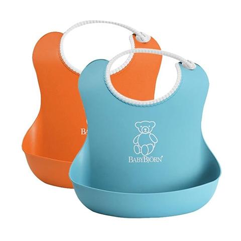 Altri accessori per il neonato - Bavaglino morbido Arancione e turchese 2 pezzi by Baby Bjorn