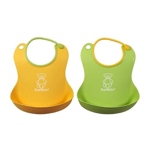 Altri accessori per il neonato - Bavaglino morbido Verde e giallo 2 pezzi by Baby Bjorn