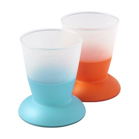 Stoviglie decorate - 2 Baby Cup Arancio-azzurro [072105] by Baby Bjorn