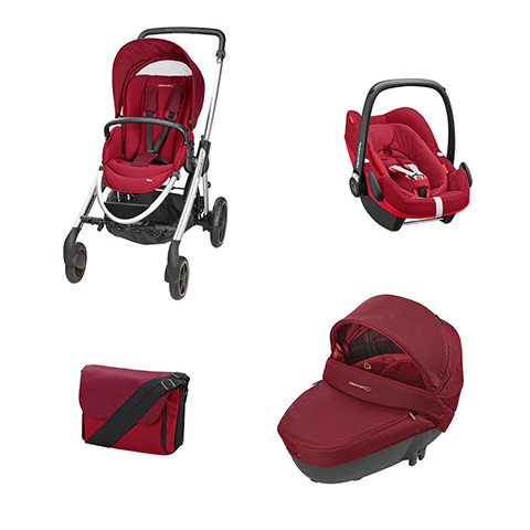 Modulari (DUO e TRIO) - [TRIO] Elea + Windoo + Pebble Plus I-Size + borsa Robin Red by B�b� Confort