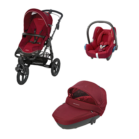 Modulari (DUO e TRIO) - [TRIO] High Trek Full + Windoo + Cabrio Fix Robin Red by Bébé Confort