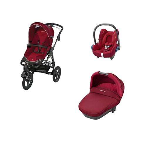 Modulari (DUO e TRIO) - [TRIO] High Trek Full + Navicella Compact + Cabrio Fix Robin Red by Bébé Confort