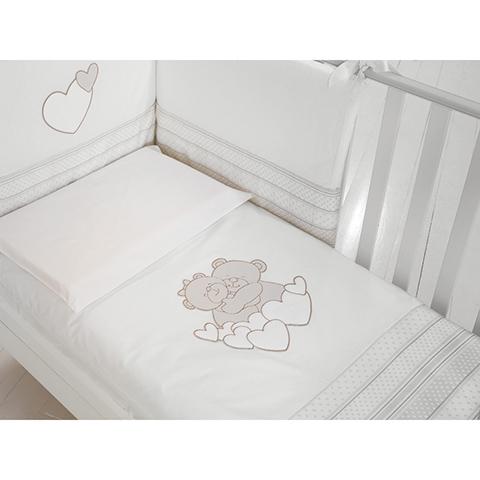 Piumoni - Piumotto Tenerezze Bianco-tortora by Baby Expert