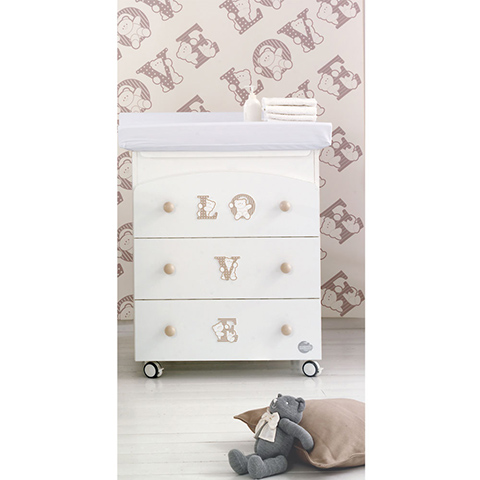 Cassettiere fasciatoio - Bagnetto Baby Love Bianco by Baby Expert