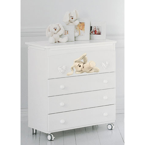 Cassettiere fasciatoio - Bagnetto Cremino Lux Bianco by Baby Expert