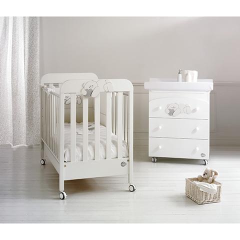 Offerte in corso - Set lettino Pisolo + cass.fasc. Pisolo + piumone Pisolo Bianco-argento by Baby Expert