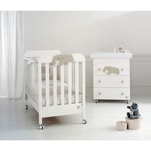 Offerte in corso - Set lettino Pisolo + cass.fasc. Pisolo + piumone Pisolo Bianco-tortora by Baby Expert