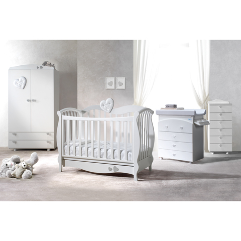 Camerette complete - Grace Bianco-argento by Baby Italia
