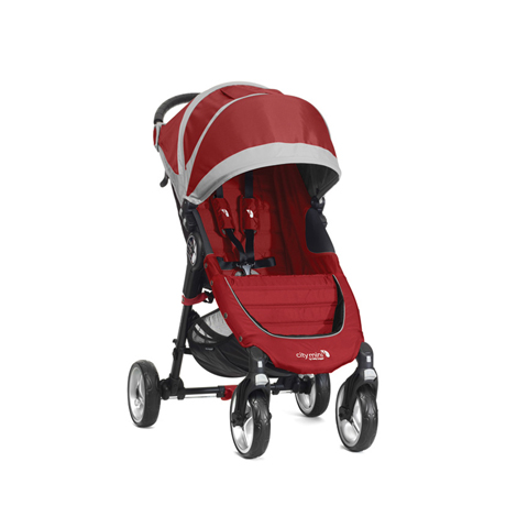 Passeggini - City Mini 4 wheels Crimson/gray [BJ0141043640] by Baby Jogger