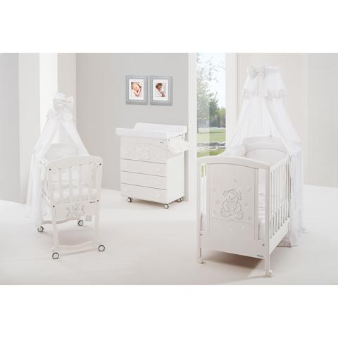 Camerette complete - Buonanotte Cristalli Bianco - cristalli argento by Billo e Pallina