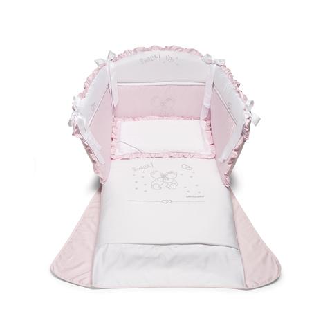 Coordinati tessili - Smack Bianco - rosa by Billo e Pallina