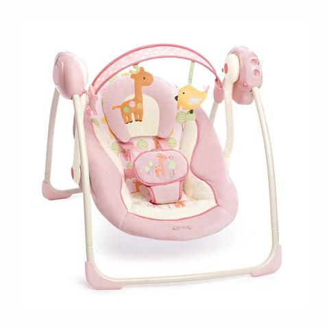 Altalene e dondolini - Altalena portatile Giraffa rosa [60121] by Bright Starts