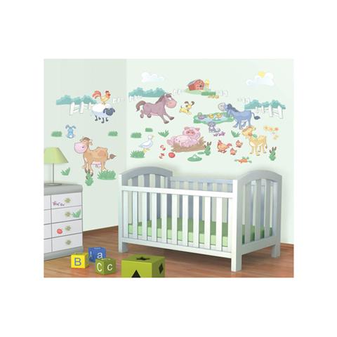 Complementi e decori - Kit adesivi decorativi - Cuccioli della Fattoria Baby Fun on the Farm [41066] by Walltastic