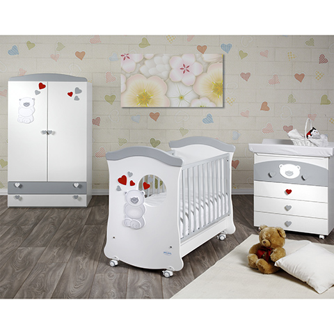 Camerette complete - Lucas Bianco - Argento by Baby Italia