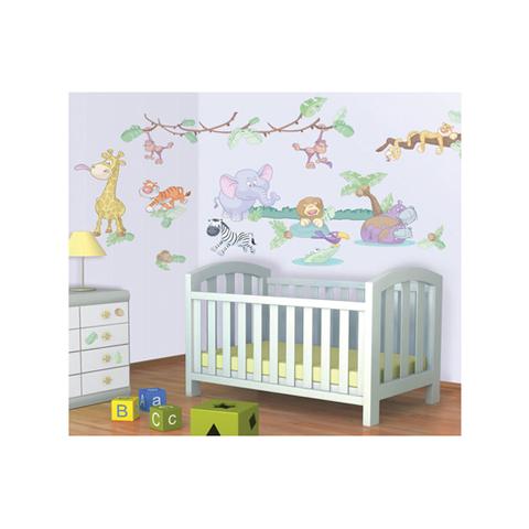 Complementi e decori - Kit adesivi decorativi - Cuccioli della Giungla Baby Jungle Safari [41059] by Walltastic