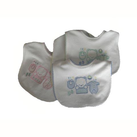 Bavaglini - Bavaglino Bavaglino ricamato con elastico cb3070 rosa by Tic Tac Toe