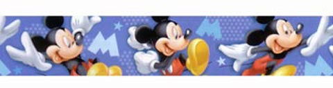 Complementi e decori - Bordure in blister h. 10,6 DE 42203 Mickey Dynamic by Decofun