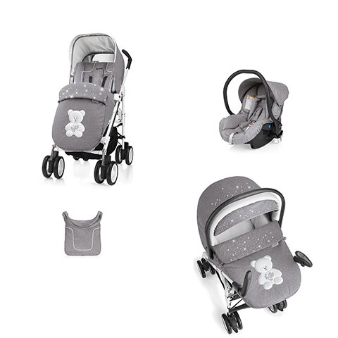 Modulari (DUO e TRIO) - [TRIO] Millestrade My Little Bear 625 Grigio Melange strass by Brevi