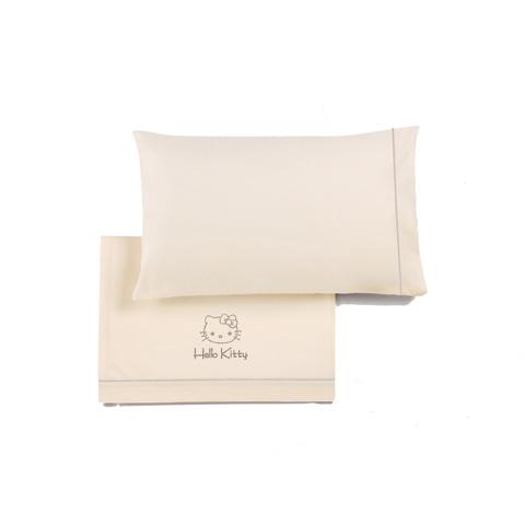 Coordinati tessili - Completo lenzuolino carrozzina Hello Kitty Brillante 05F beige by Somma