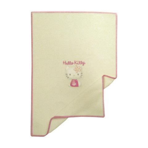 Coperte, lenzuolini e paracolpi - Coperta in lambswool ricamata lettino - Hello Kitty 3D 010 bianco [80508.12] by Somma