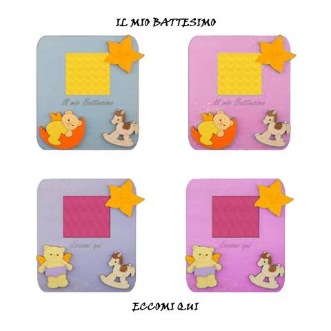 Abbigliamento e idee regalo - Cornice con scritta augurale Celeste - Il Mio Battesimo [10203] by Mendozzi