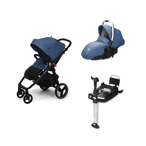 Modulari (DUO e TRIO) - [DUO] Loop + Sono + Base Isofix Lapis Lazuli [963] Telaio Black by Casual Play
