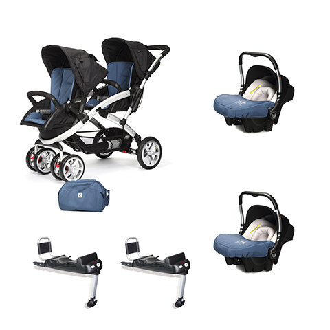 Linea gemellare - [DUO] S-twinner + Baby 0 Plus + Base Isofix Lapis Lazuli [963] by Casual Play
