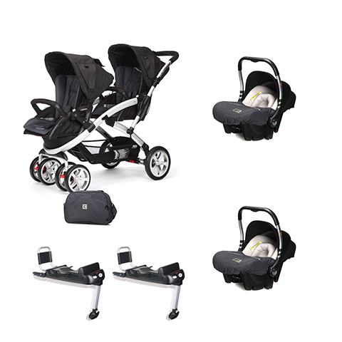 Linea gemellare - [DUO] S-twinner + Baby 0 Plus + Base Isofix Metal [990] by Casual Play