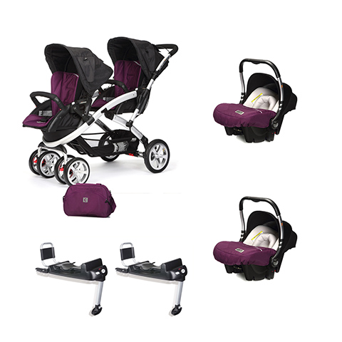 Linea gemellare - [DUO] S-twinner + Baby 0 Plus + Base Isofix Plum [992] by Casual Play