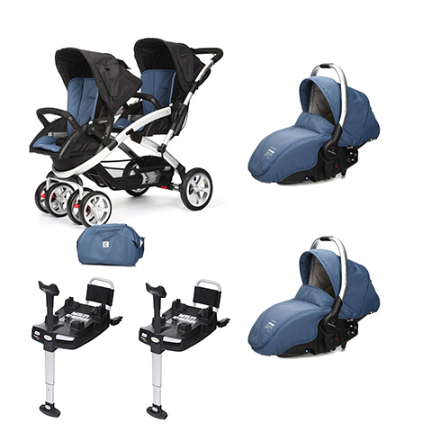 Linea gemellare - [DUO] S-twinner + Navicella Sono e base Isofix Lapis Lazuli [963] by Casual Play
