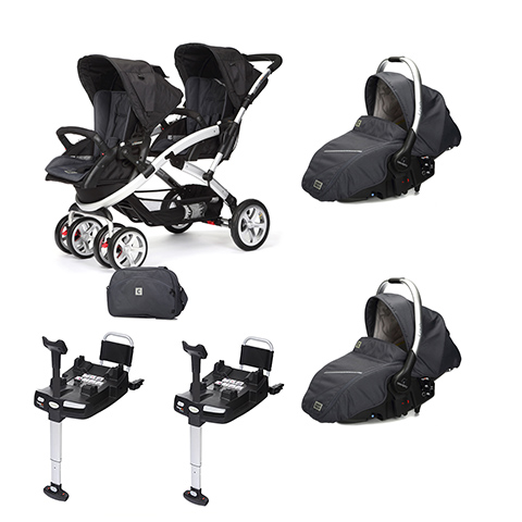 Linea gemellare - [DUO] S-twinner + Navicella Sono e base Isofix Metal [990] by Casual Play
