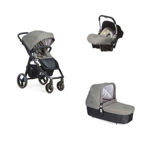 Modulari (DUO e TRIO) - Sistema modulare [TRIO] Loop + Baby 0 Plus + Navicella Cot Jet [942] Telaio Black by Casual Play
