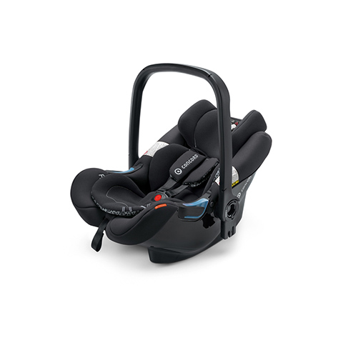 Seggiolini auto Gr.0+ [Kg. 0-13] - Air.Safe + clip MIDNIGHT BLACK by Concord