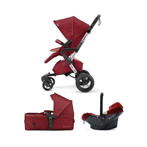 Modulari (DUO e TRIO) - [TRIO] Neo Mobility Set - Neo + Air.Safe + Scout TOMATO RED by Concord