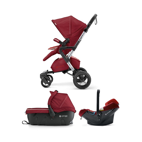 Modulari (DUO e TRIO) - [TRIO] Neo Travel Set - Neo + Air.Safe + Sleeper 2.0 TOMATO RED by Concord