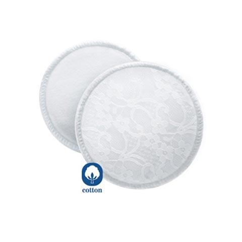 Allattamento e svezzamento - Coppette assorbilatte lavabili + sacchettino 5418 SCF155/06 by Avent