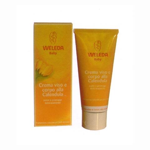 Prodotti igiene personale - Baby crema viso e corpo alla calendula 75 ml. BCV - 75 ml. by Weleda